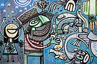 Brazil, Bonito, Graffiti on wall - NDF000215