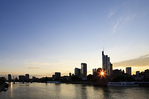 Germany, Frankfurt, View of city at sunset - FOF003773