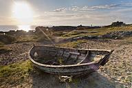 Sweden, Simrishamn, View of old fishing boat - SHF000574