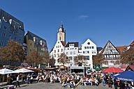 Germany, Thuringia, Jena, People celebrating city festival at market place - WDF001148