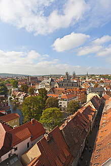 Germany, Thuringia, Erfurt, View of city - WDF001118