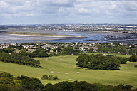 Ireland, Leinster, County Fingal, View of Howth Peninsula with Sutton - SIE002201