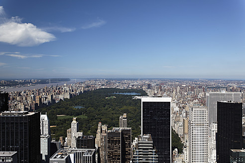 USA, New York, View of city with Central Park - ANBF000116