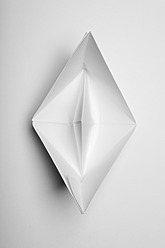 Paper boat on white background - ANBF000022