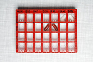 Germany, Pill box for weekly doses - ANBF000020