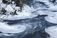 Germany, Bavaria, Franconia, View of ice at river - SIEF002224