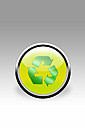 Button showing recycling sign, close up - CSF015801