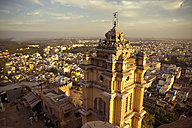 Asia, India, Tamil Nadu, View of temple with Trichy City - MBEF000241