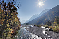 Austria, Tyrol, View of Karwendel Mountains with river - SIEF002320