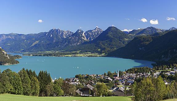 Austria,Salzkammergut, St. Gilgen,  View of town - WWF001999