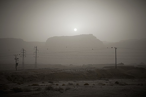 Israel, View of power lines - THF001186