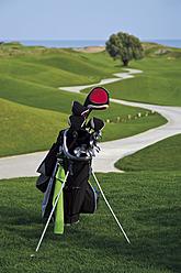 Turkey, Antalya, Golf club in golf bag - GNF001206