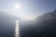 Italy, View of Lake Garda at sunset - MIRF000383