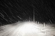 Germany, Bavaria, View of snow on road - SIEF002409