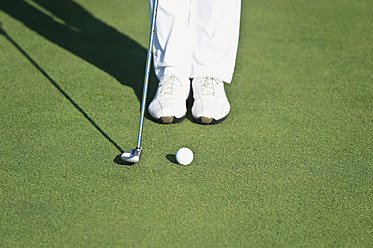 Cyprus, Person playing golf on golf course - GNF001220