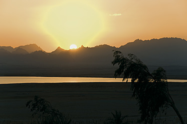 Africa, Egypt, View of golf course at sunset - GNF001203
