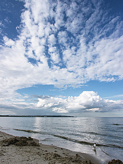 Germany, View of cloudy sky over Baltic Sea at Rugen Island - LFF000364