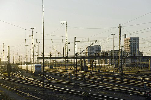 Germany, Bavaria, Munich, Train near main station - LF000426