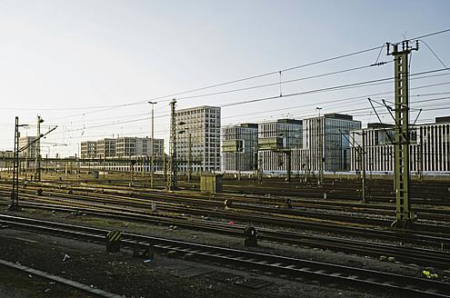 Germany, Bavaria, Munich, Interconnecting railway tracks near main station - LFF000431