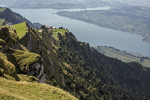 Switzerland, View of Lake Zug at Rigi Kulm - DWF000164