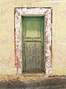 Spain, La Gomera, Closed door at Playa de Santiago - SIEF002556