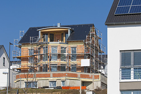 Germany, Baden Wurttemberg, Waiblingen, Construction of house building - WDF001228