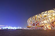 China, Beijing, National Stadium at night - FL000056