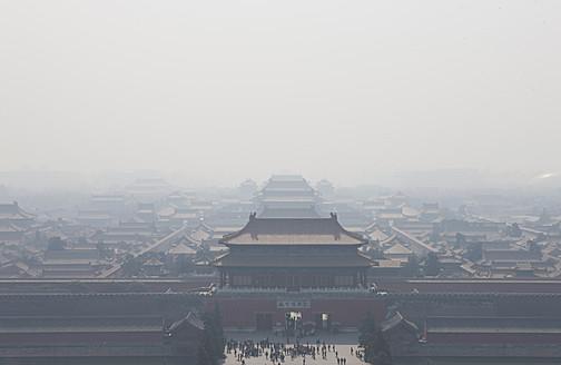 China, Beijing, Misty Forbidden City - FL000059