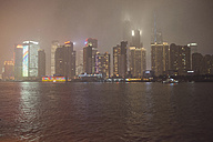 China, Shanghai, Skyline of financial district - FLF000062