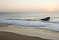 Portugal, Surfer on beach - MIRF000466