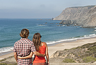 Portugal, Couple on beach - MIRF000481