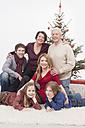 Portrait of multi generation family, smiling - BMYF000330