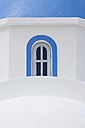 Greece, View of classical whitewashed church at Oia village, close up - RUEF000936