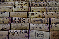 Close up of wine corks - AX000171