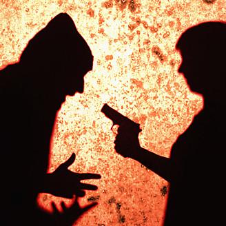 Close up of gun crime scene - TL000668