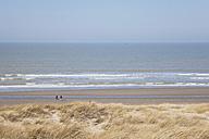 Belgium, People walking at North Sea - GW001898