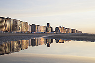Belgium, Blankenberge, View of high rise at North Sea - GWF001909