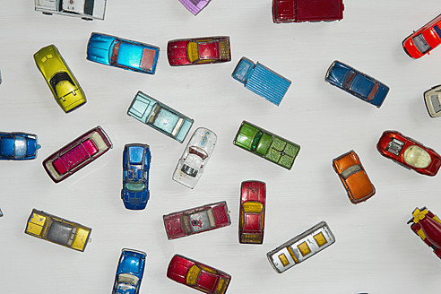 Collection of toy cars on white background - AWDF000692