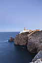Portugal, View of Farol do Cabo Sao Vicente, lighthouse in background - MSF002698