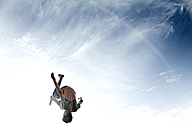 France, Teenage boy jumping - MSF002723