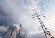 Germany, Cooling towers and power lines - WBF001288