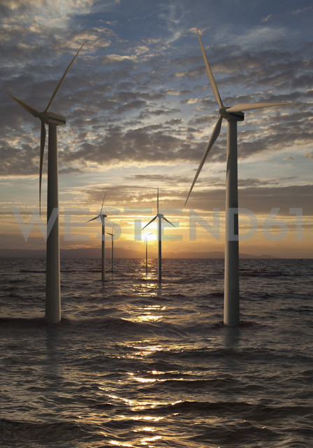Germany, Wind turbines in North Sea - WBF001292 - WB-Images/Westend61