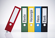 Colored Folders on white background, close up - WBF001335