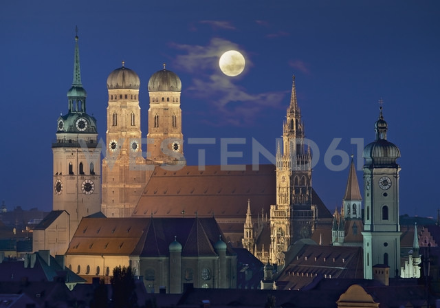Germany, Bavaria, Munich, View of city - WBF001235
