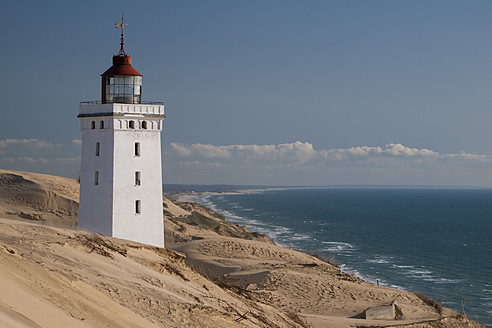 Denmark, View of Rubjerg Knude light house at North Sea - HHEF000002