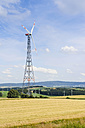 Germany, Bavaria, View of wind wheel in wind park - MJF000059