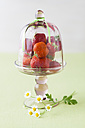 Strawberries in glass bowl, close up - ECF000036
