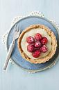 Plate of raspberry tart, close up - ECF000044