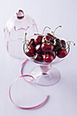 Bowl of cherries on white background - ECF000058