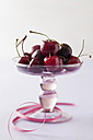 Bowl of cherries on white background - ECF000060